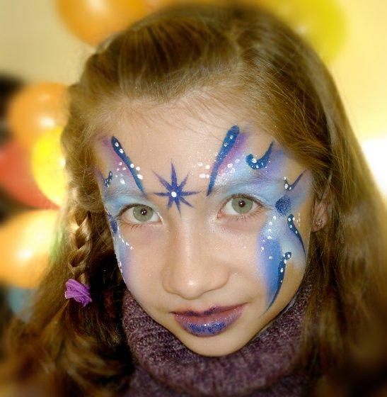 Maquillage enfants princesse de l'hiver