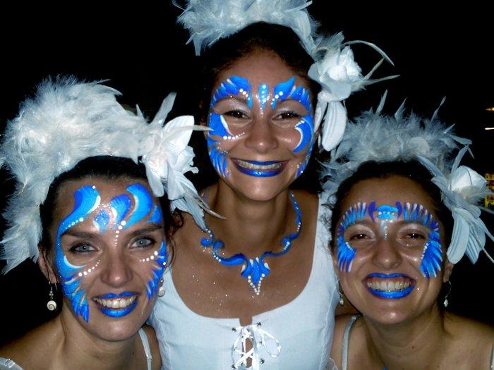 Maquillage spectacle de rue Agora Brasil à Perpignan