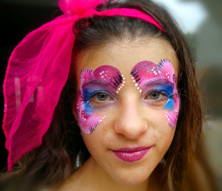 Maquillage enfant arbre de Noël princesse violette