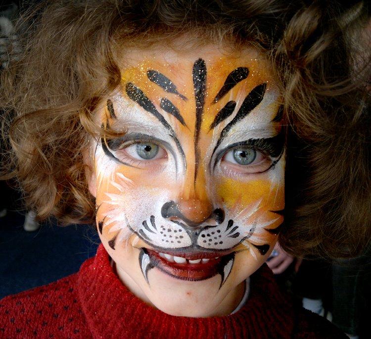 Maquillage enfants Lion Tigre tigresse Arbre de Noël