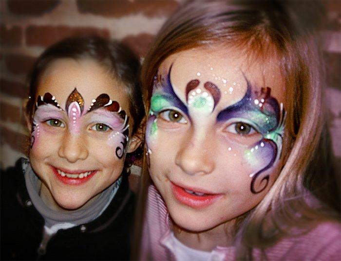 Maquillage Artistique Enfants - 2 soeurs princesses